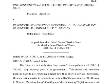Fifth Circuit Remands Baytown Penalty for Standing Inquiry August 2, 2020 Eric L. Hiser