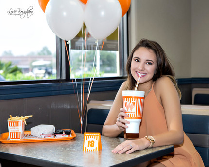A senior and Whataburger
