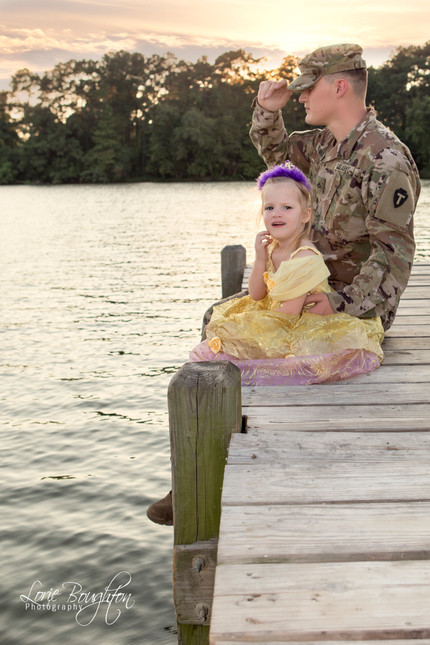 Daddy Daughter Pre-Deployment Session
