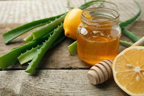 Canva - Aloe Vera, fresh lemon and honey