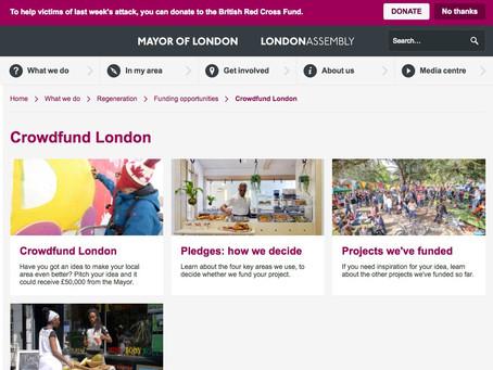 Crowdfund London: Create.  Fund.  Launch.