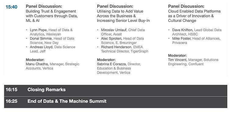 3DATA & THE MACHINE Summit - Concept Age