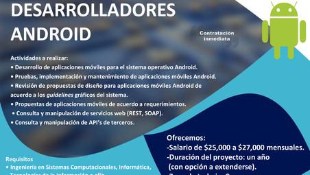 Buscamos Extraterrestres especializados en TI Desarrolladores Android