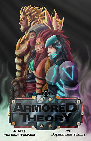 front cover for band armored theory first graphic novel