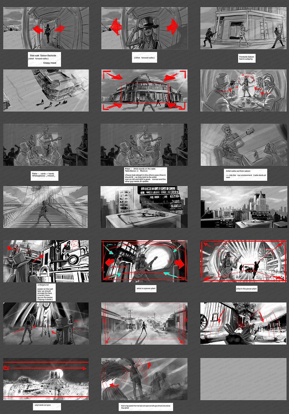 patgirl music video storyboard