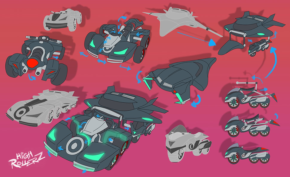 vehicle design for client animation
