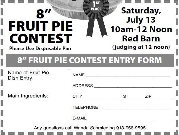 Fruit Pie Entry Form