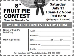 Fruit Pie Entry Form