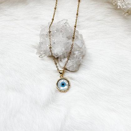 "Evil Eye Charm Necklace 16-18"""