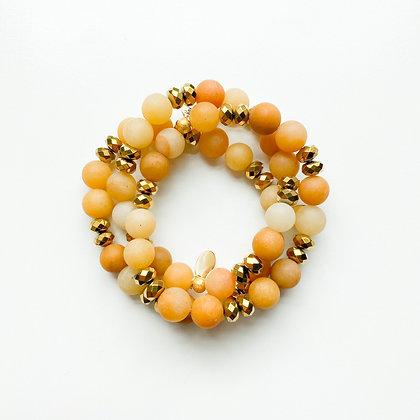 Yellow Jade Bracelet 3PK