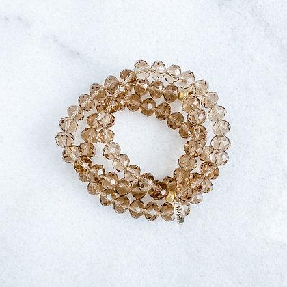 Caramel Glass Bracelet 3 PK