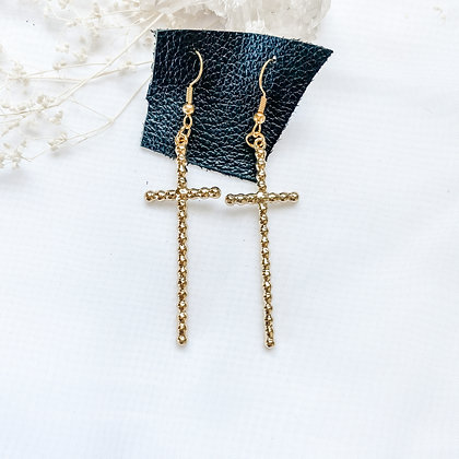 Cross Studded Dangles