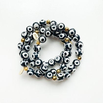 Tibetan Agate Bracelet 3PK
