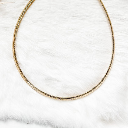 Chevron Collar Snake Necklace