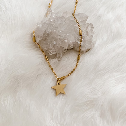 Simple Star Necklace 14-16""