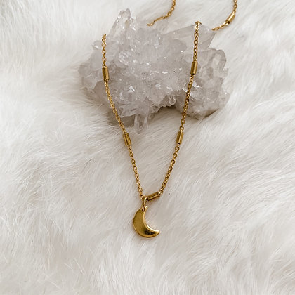 """Simple Moon Necklace 14-16"""""""