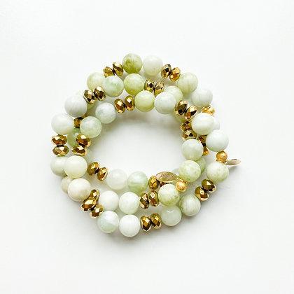 Green Jade Bracelet 3PK