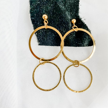 Hammered Retro Hoops