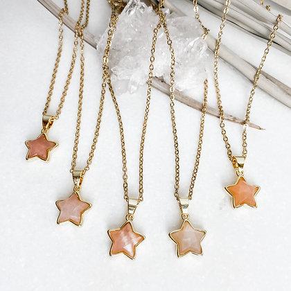 Sunstone Star Necklace