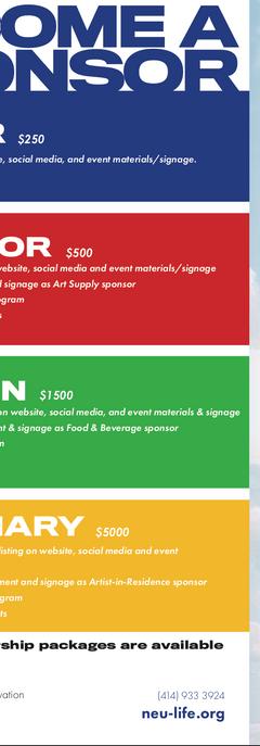 Sponsorship information sheet, non-profit fundraising event