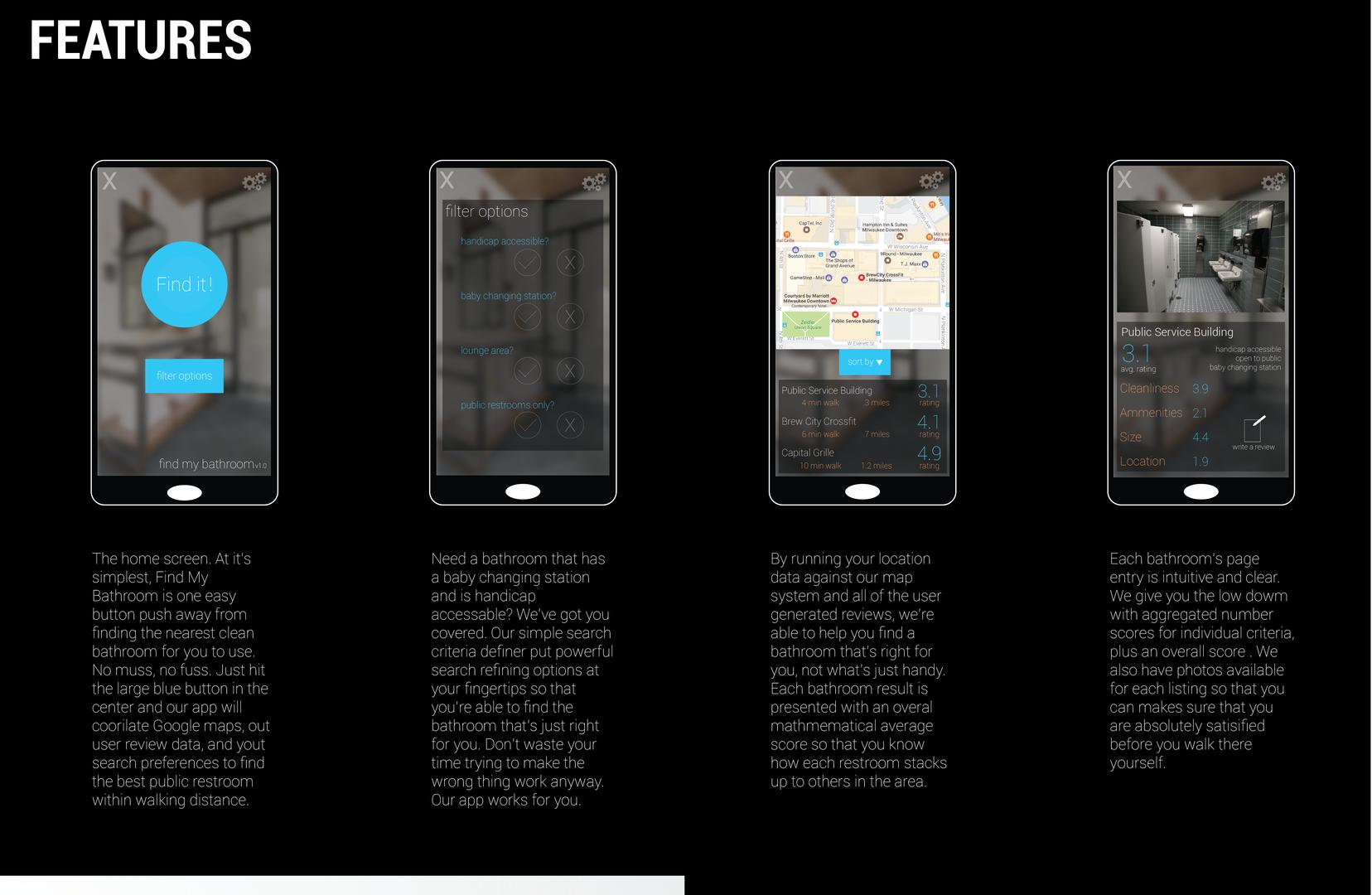 app development: screen shots