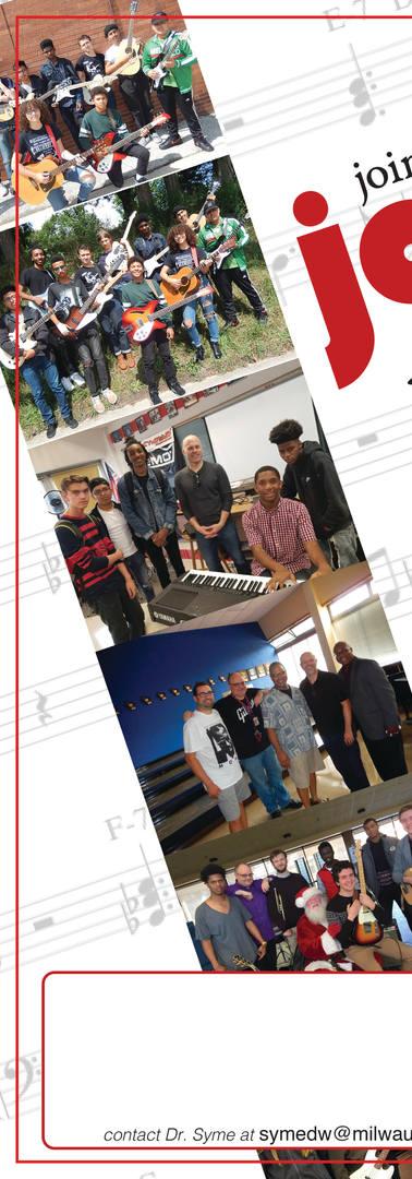Jazz program recruitment flyer