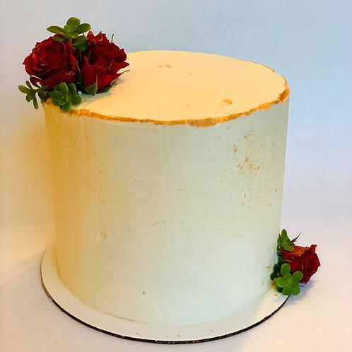 SIMPLE CAKE + FLOWER