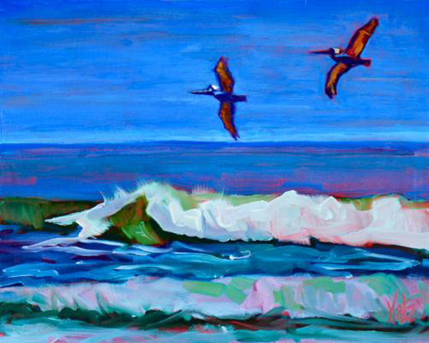 Katz_Pelican Patrol 8x10 Oil on wood 350