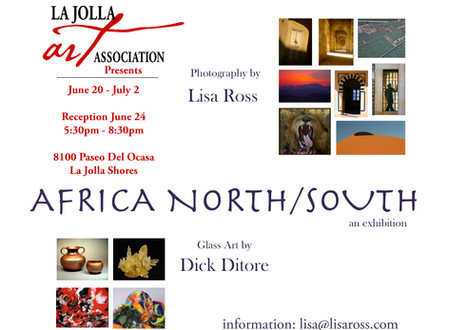 Africa North/South: Photographer Lisa Ross & Glass Artist Dick Ditore Opens June 20