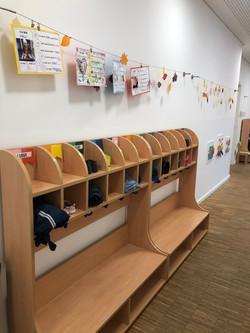 Garderobenbereich Kinderkrippe