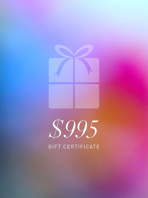 Gift Certificate $995