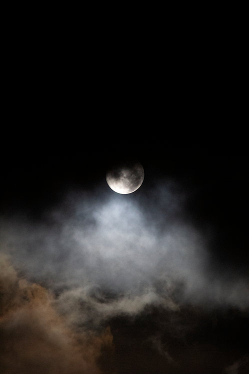 Cloudscape Fine Art Photography Cloud Artwork Moon