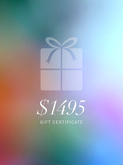 Gift Certificate $1495
