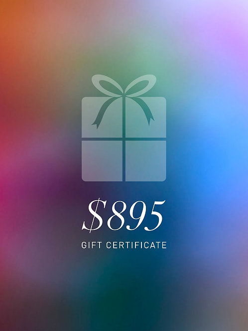 Gift Certificate $895