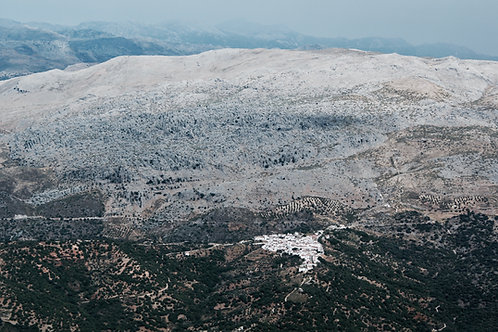 White Village of Andalusia Aerial Photography Artwork