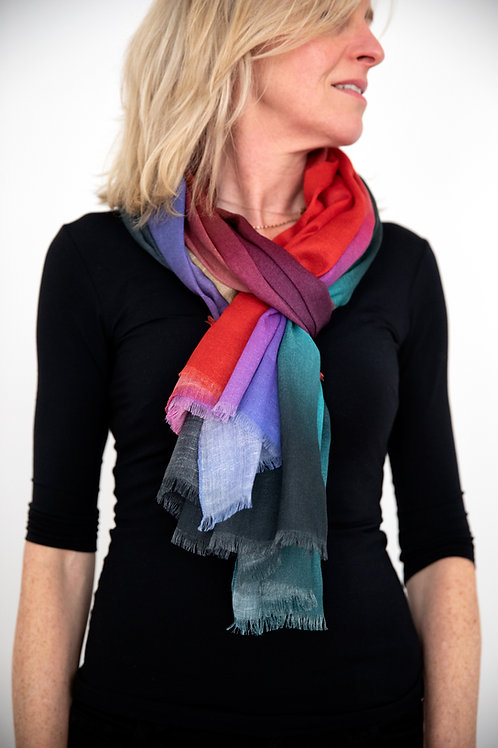 Euphoria Scarf cotton/linen/modal, Art Scarf, Fashion Accessory, Shawl, Wrap