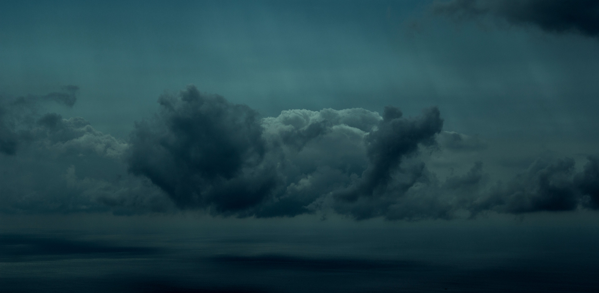 Honorable Mention in Aerial category - Marbella Cloudscape Underwater