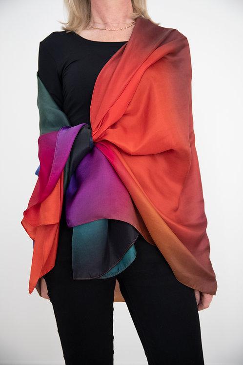 Euphoria Scarf, Art Scarf, Silk Scarf, Fashion Accessory, Scarf