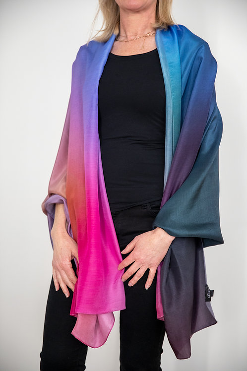 Silk Art Scarf - Happiness