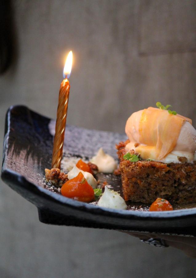 Birthday cake at Spirit House, Yandina, Queensland, Australia