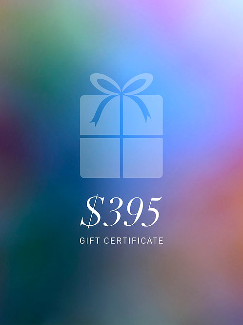 Gift Certificate $395