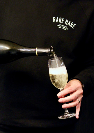 Wine pouring at Rare Hare, Merricks, Australia