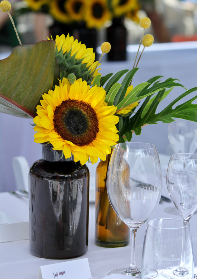 Table decorations, Hastings Street Long Table Lunch, Noosa Food and Wine Festival, Noosa, Queensland, Australia