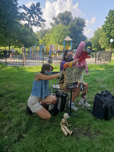 The Out of Work Puppeteers in Fort Greene Park