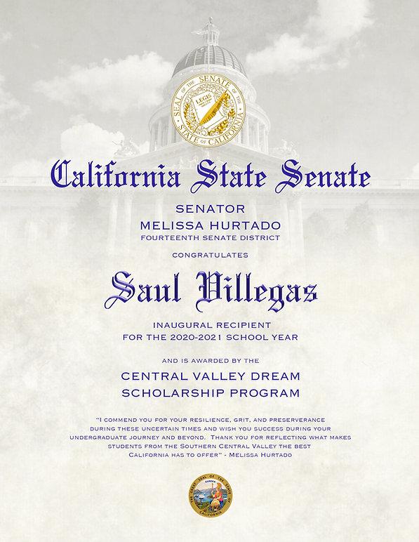 cllcf, scholarship, california, senator, central valley, fourteenth district