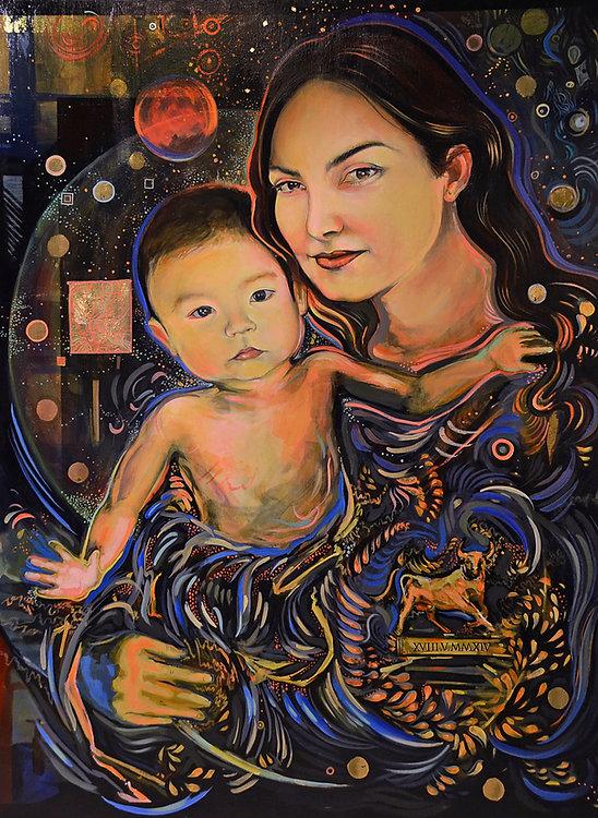 1. Portrait of Baby John & Jamie