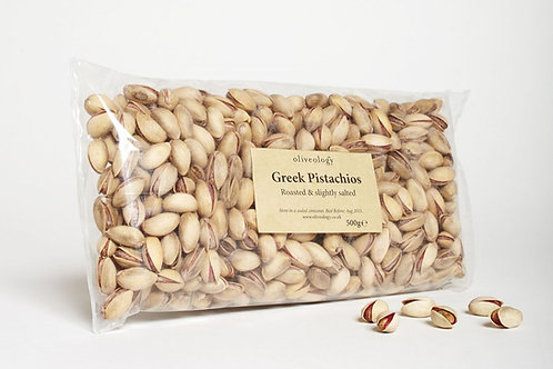 Organic Greek Pistachios in Shell (roasted & slightly salted)