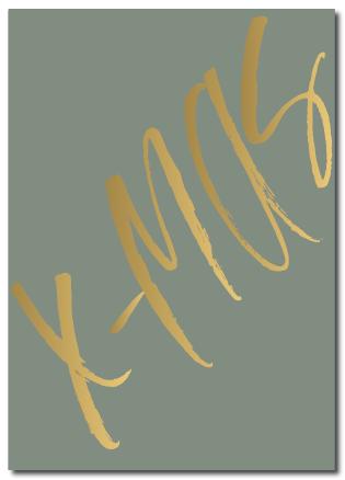 Kerstkaart X-mas groen