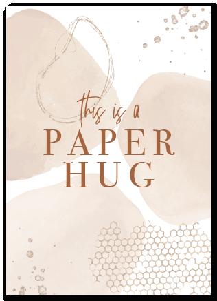 Wenskaart This is a paper hug