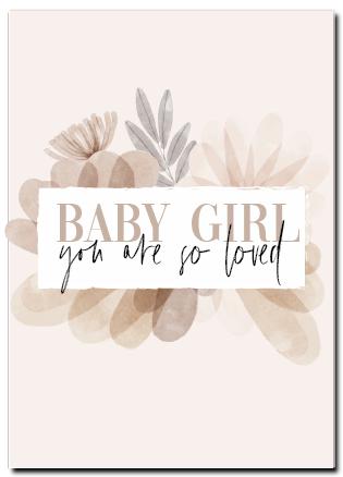 Wenskaart geboortekaart meisje